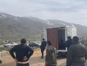 """لحظة إطلاق نار حقيقى فى """"لوكيشن"""" تصوير الاختيار على الحدود اللبنانية السورية"""