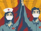 ملصقات فنية على طريقة الحرب.. فيتناميون يرسمون للتوعية ضد فيروس كورونا