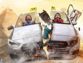 """سائق """"ملبوس"""" يرعب الركاب فى الحلقة السادسة من كريزى تاكسى"""