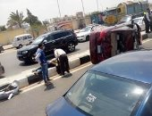إصابة 9 أشخاص فى حادث تصادم على الطريق الصحراوى الشرقى فى بنى سويف