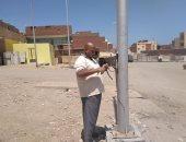 رئيس مدينة غارب: الانتهاء من تركيب أعمدة الإنارة الجديدة بالشوارع ..صور