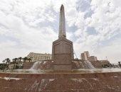 شاهد أحدث صور لميدان التحرير بعد تنفيذ نافورة بـ3 مستويات بمحيط المسلة