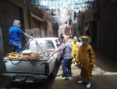 صور.. حملة لتعقيم شوارع قرية دملو بالقليوبية لمواجهة فيروس كورونا