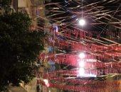 """بهجة رمضان.. """"محمد"""" يشارك صورة تزيين شارع أحمد راسم بمحرم بك الإسكندرية"""