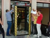 جهاز العاشر من رمضان: كابينة لتعقيم الموظفين والمترددين على الجهاز للوقاية من كورونا