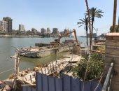 صور.. إزالة التعديات على نهر النيل فى الغربية