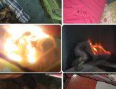 """فيديو وصور.. الرعب فى شقة بشبرا تشتعل فيها النيران بدون سبب.. جرادل مياه فى كل ركن لإخماد الحرائق المتجددة بشكل غامض.. أصحابها لجأوا للشيوخ والرد: """"الموضوع أكبر مننا"""".. وصاحب المنزل القعيد: نريد من يغيثنا"""