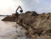 الرى: ازالة تعديات على نهر النيل فرع دمياط تقدر بحوالى 35 ألف متر مكعب