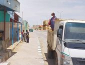 تنفيذ موجة تعقيم جديدة لمنشآت وشوارع بوسط سيناء.. صور
