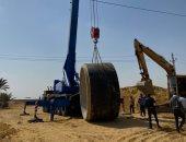تنفيذ 6 عدايات لخطوط المياه والصرف لتوسعة طريق القاهرة - الإسماعيلية الصحراى