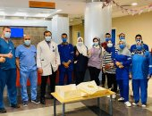 """""""الصحة"""" تحتفل بأعياد ميلاد الأطباء والمرضى بمستشفى أبو خليفة بالإسماعيلية.. صور"""