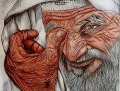 """""""عبده"""" يشارك صحافة المواطن بعددا من البورتيريهات تبرز موهبته الفنية"""
