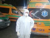 """الجيش الأبيض ..""""محمد عطية"""" مسعف على خط المواجهة مع فيروس كورونا"""