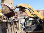 رفع 70 طن تجمعات قمامة خلال حملات مكبرة بقرى مركز الباجور فى المنوفية