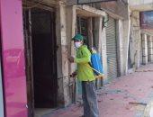 صور.. استمرار تطهير الشوارع الرئيسية والفرعية وأماكن التجمعات بسوهاج