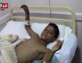 طفل أصيب بمحاولة اغتيال وزير الداخلية الأسبق: نفسى أشوف محمد رمضان .. فيديو