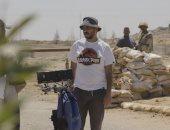 """بيتر ميمي فى كواليس تصوير مسلسل الاختيار: """"لقد هرمنا"""".. صورة"""