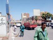 صور.. حملة نظافة مكبرة ورفع تراكمات القمامة بشوارع حى ثان طنطا