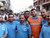 العاملون فى إسعاف دسوق بمحافظة كفر الشيخ على خط المواجهة مع كورونا