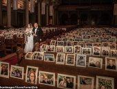 """""""صور بدل المعازيم والاحتفال أونلاين"""".. شوف الجواز زمن الكورونا فى كنيسة بأمريكا"""