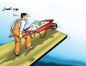 كاريكاتير صحيفة إماراتية.. كورونا يضع العمال على هافة الهاوية