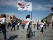 مظاهرات بالعاصمة الأوكرانية لمطالبة الحكومة بتخفيف إجراءات الإغلاق.. صور