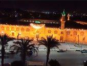 شاهد.. أجواء أول صلاة تراويح فى رمضان من مسجد عمرو بن العاص