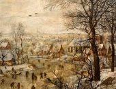 """شاهد """"منظر طبيعى فى الشتاء"""" لـ بيتر بروجيل من مقتنيات متحف الفنون الجميلة"""