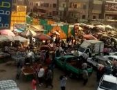 بسبب سوق عشوائى..تكدس بشارع ناهيا والأهالى يناشدون توفير حل لمواجهة كورونا