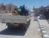 """مدينة الحسنة تواصل تنفيذ حملة """"مدينة بلا نفايات"""" بوسط سيناء ..صور"""