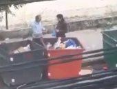 لبنانيان يبحثان عن الطعام فى القمامة.. وريما نجيم: تبكينى مشاهد الفقر