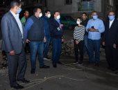 محافظ الإسكندرية يتفقد أعمال مشروعات الرصف وتطوير المناطق بحي الجمرك