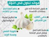 إنفوجراف.. معلومة طبية رمضانية.. فوائد تناول فص الثوم