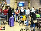 مطار القاهرة يستقبل رحلة مصر للطيران القادمة من بيروت تقل 80 عالقا مصريا