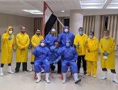 صحة دمياط: سلامة فريق العزل الطبى بالمركز التعليمى بعد انتهاء عملهم.. صور