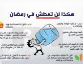 8 نصائح للقضاء على العطش خلال رمضان تقدمها كلية التربية الرياضية بنات حلوان.. إنفوجراف