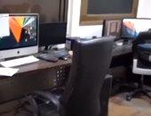فيديو..لحظة مداهمة شبكات قنوات فضائية غير مرخصة في الجيزة