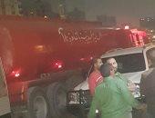 سيارة خزان الحماية المدنية بالقاهرة تدعم القليوبية للسيطرة على حريق شبرا الخيمة
