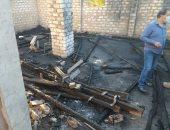 صور.. حريق يلتهم محتويات مزرعة كنيسة الملاك ميخائيل بالمطاعنة بإسنا دون إصابات