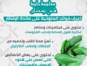 إنفو جراف.. معلومة طبية رمضانية..  فوائد الملوخية على الإفطار