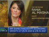 """وزيرة التعاون الدولى لشبكة """"CNBC"""": الإصلاحات الاقتصادية هيأت مصر لمواجهة كورونا"""
