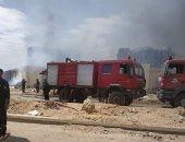 حريق هائل بأحد مصانع المواد الغذائية بالمنطقة الصناعية السادسة بأكتوبر