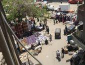 قارئ يشكو التزاحم نتيجة إقامة سوق بشارع البصراوى بإمبابة