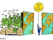 كاريكاتير صحيفة إماراتية.. العالم وقرارات العودة التدريجية وانتشار كورونا