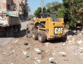 رئيس حى غرب المنصورة يعلن رفع 600 طن من تراكمات القمامة بنطاق المدينة