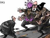 """كاريكاتير صحيفة سعودية.. """"فساد وميليشيات وكورونا"""" تحديات الكاظمى بالعراق"""