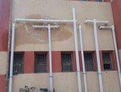 اضبط مخالفة.. مياه الصرف تتلف جدران مدرسة عمرو بن العاص فى زفتى بعد تطويرها
