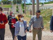 صور.. تنفيذ إجراءات التشغيل الاحترازية بالمسرح الرومانى وكوم الدكة بالإسكندرية