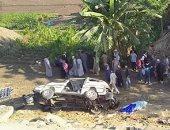 """مصرع وإصابة 3 أشخاص فى حادث تصادم بسبب """"حمار"""" على الطريق الزراعى بأسوان"""