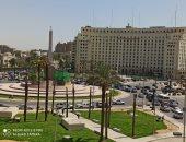 سيولة مرورية بكوبرى قصر النيل وميدان التحرير